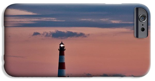 North Sea iPhone Cases - Westerhever Light House iPhone Case by Heiko Koehrer-Wagner