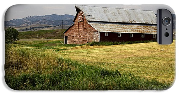 Agricultural iPhone Cases - Western Barn Montana iPhone Case by Edward Fielding