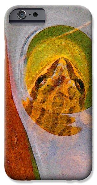 Western Chorus Frog I iPhone Case by Anastasia  Ealy