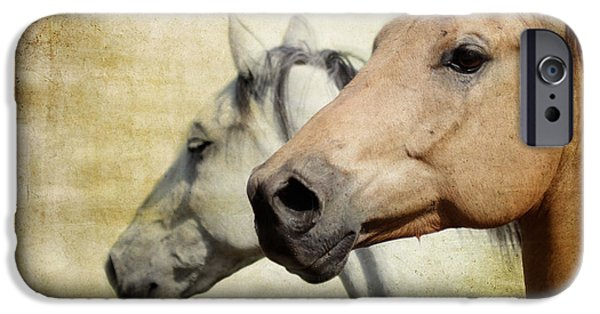 Horse iPhone Cases - Western Horses iPhone Case by Athena Mckinzie