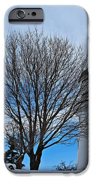 Winter In Maine iPhone Cases - Western Light_9821 iPhone Case by Joseph Marquis