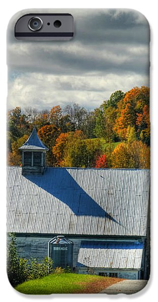 Western Maine Barn iPhone Case by Alana Ranney