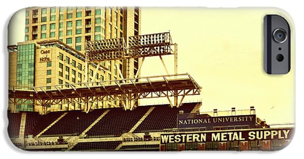 Baseball Stadiums iPhone Cases - Western Metal-Petco Park iPhone Case by See My  Photos