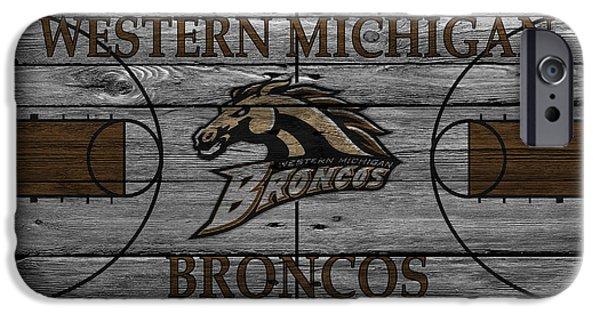 Broncos iPhone Cases - Western Michigan Broncos iPhone Case by Joe Hamilton
