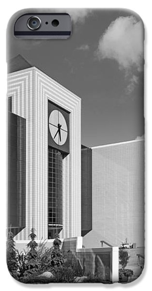 Western Michigan University Stewart Clocktower and Waldow Library iPhone Case by University Icons