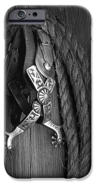 Western Spurs iPhone Case by Tom Mc Nemar