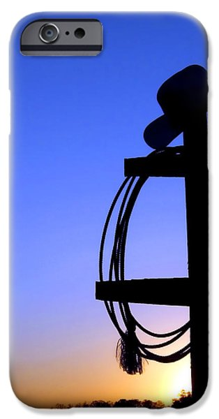 Western Sunset iPhone Case by Olivier Le Queinec