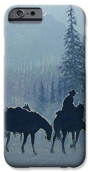 Western Winter iPhone Case by Randy Follis