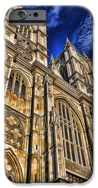 Historic Site iPhone Cases - Westminster Abbey West Front iPhone Case by Stephen Stookey