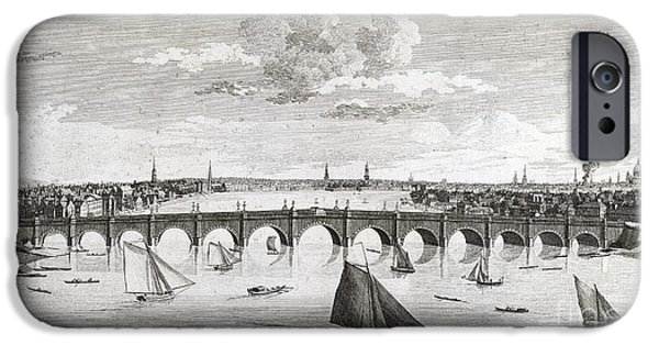 Etc... iPhone Cases - Westminster Bridge, London, iPhone Case by British Library