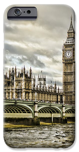 Westminster Palace iPhone Cases - Westminster iPhone Case by Heather Applegate