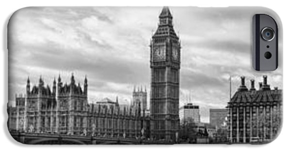 Police iPhone Cases - Westminster Panorama iPhone Case by Heather Applegate