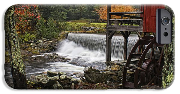 Grist Mill iPhone Cases - Weston Grist Mill iPhone Case by Priscilla Burgers