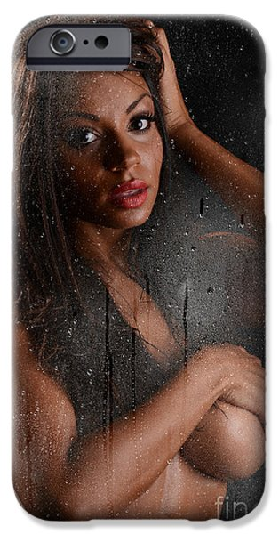 Sweat iPhone Cases - Wet 2 iPhone Case by Jt PhotoDesign