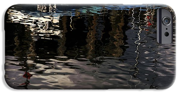 Abstract Seascape iPhone Cases - Wet Fishing Boat iPhone Case by Clive Beake