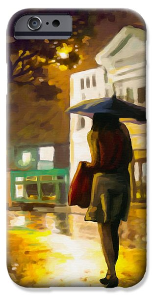 Best Sellers -  - Rainy Day iPhone Cases - Wet Night iPhone Case by Anthony Mwangi