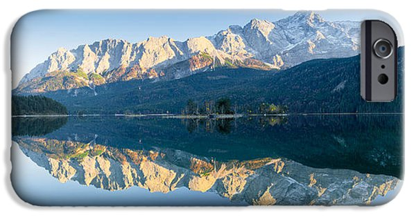 Mountain iPhone Cases - Wetterstein Mountains And Zugspitze iPhone Case by Panoramic Images
