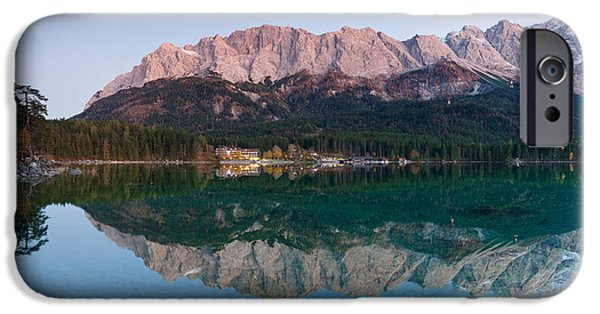 Mountain iPhone Cases - Wetterstein Mountains, Zugspitze iPhone Case by Panoramic Images