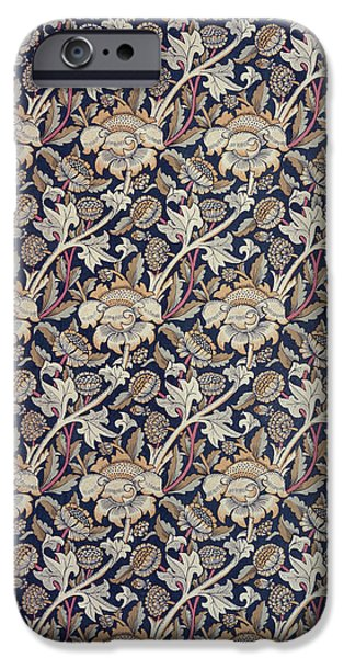 Design Tapestries - Textiles iPhone Cases - Wey design iPhone Case by William Morris
