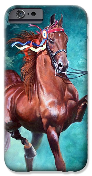 Horses iPhone Cases - WGC Courageous Lord iPhone Case by Jeanne Newton Schoborg