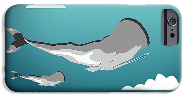 Animation iPhone Cases - Whale 7 iPhone Case by Mark Ashkenazi
