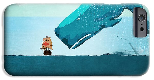 Animation iPhone Cases - Whale iPhone Case by Mark Ashkenazi