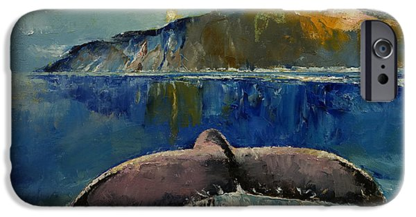 Michael Paintings iPhone Cases - Whale Song iPhone Case by Michael Creese