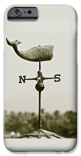 Whale Weathervane In Sepia iPhone Case by Ben and Raisa Gertsberg