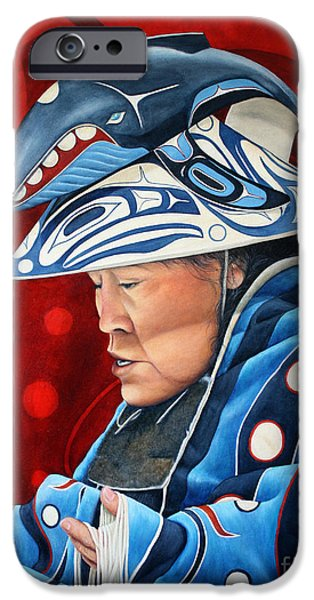 Nation iPhone Cases - Whale Woman iPhone Case by Joey Nash