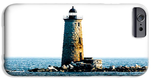 New England Lighthouse iPhone Cases - Whaleback iPhone Case by Greg Fortier
