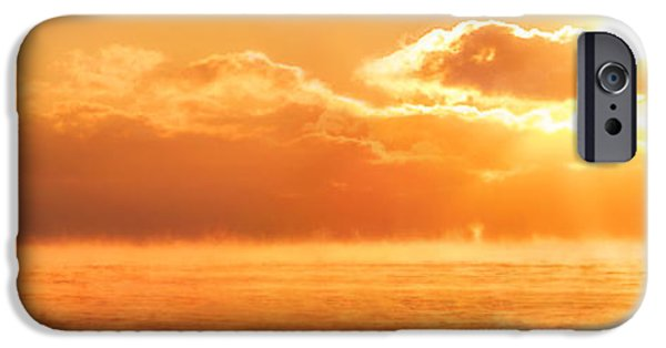 New England Lighthouse iPhone Cases - Whaleback Sunrise iPhone Case by Robert Clifford