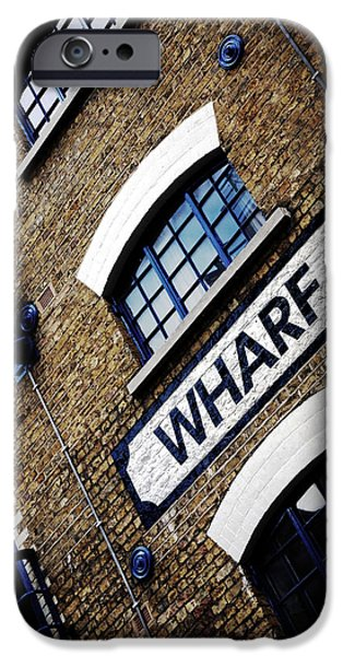 Buildings iPhone Cases - Wharf iPhone Case by Mark Rogan