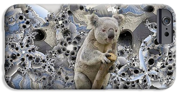 Koala Digital Art iPhone Cases - Wharf iPhone Case by Ron Bissett