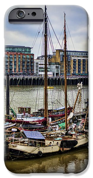 Tall Ship iPhone Cases - Wharf Ships iPhone Case by Heather Applegate
