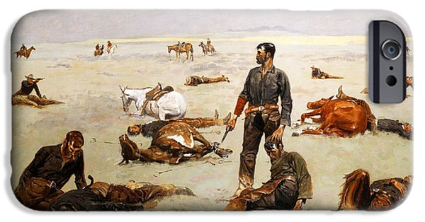 Frederic Remington iPhone Cases - What an unbranded cow has cost iPhone Case by Frederic Remington