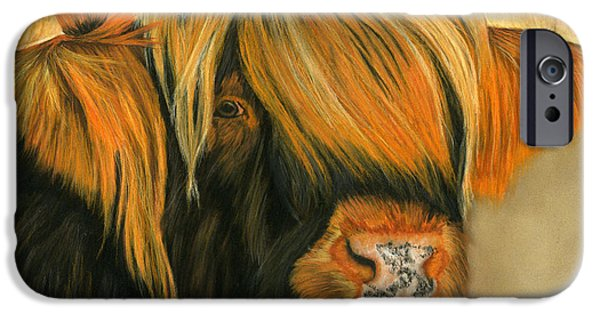 Animal Cards Pastels iPhone Cases - What Do You Want? iPhone Case by Sarah Dowson