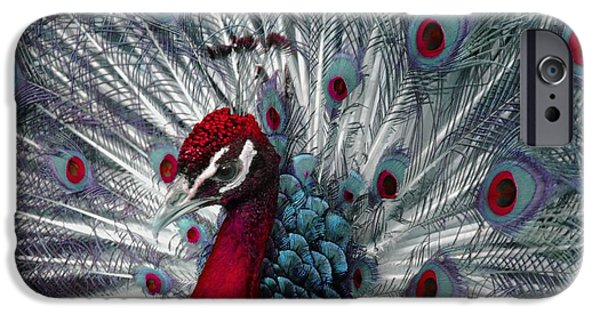 Strange iPhone Cases - What If - A Fanciful Peacock iPhone Case by Ann Horn