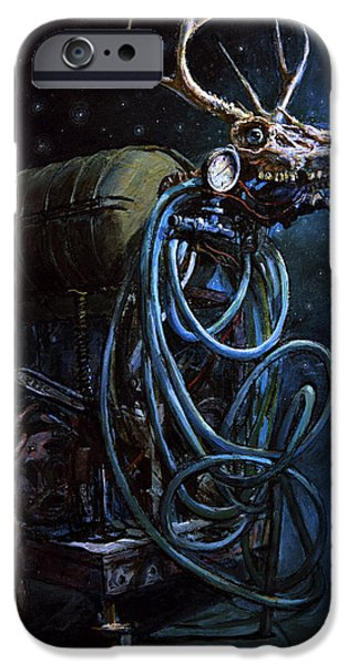 Creatures Paintings iPhone Cases - What if... iPhone Case by Frank Robert Dixon