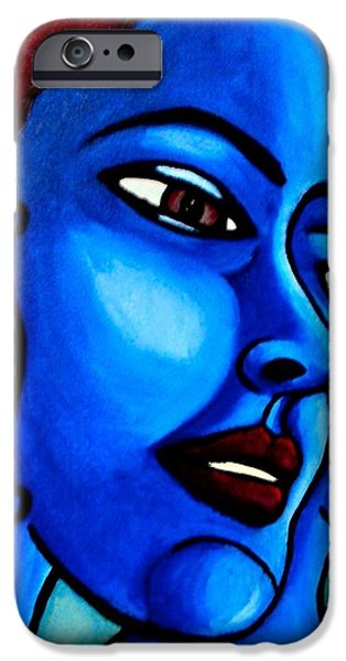 Multiple Personalities iPhone Cases - What is an Individual? iPhone Case by India Samara