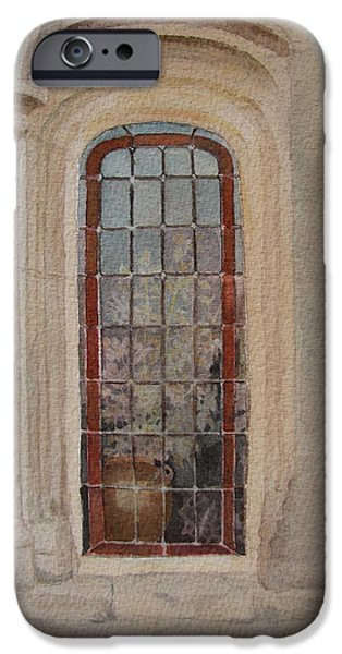 Stonewall Paintings iPhone Cases - What is Behind the Window Pane iPhone Case by Mary Ellen  Mueller Legault