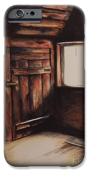 Cabin Corner iPhone Cases - What Lurks iPhone Case by Laura Rainer