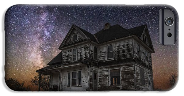 Abandoned House iPhone Cases - What Once Was iPhone Case by Aaron J Groen