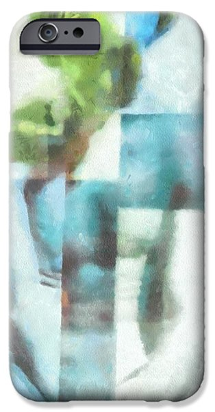 Young Digital iPhone Cases - What the painter saw iPhone Case by Gun Legler