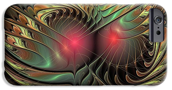 Abstract Digital Mixed Media iPhone Cases - What You See iPhone Case by Anastasiya Malakhova