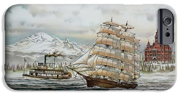 Tall Ship iPhone Cases - Whatcom Heritage iPhone Case by James Williamson