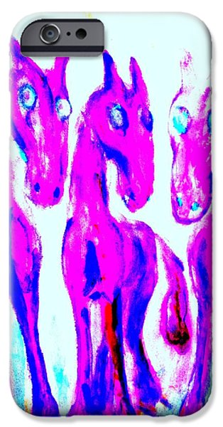 Best Sellers -  - Component Paintings iPhone Cases - Whats going on here iPhone Case by Hilde Widerberg
