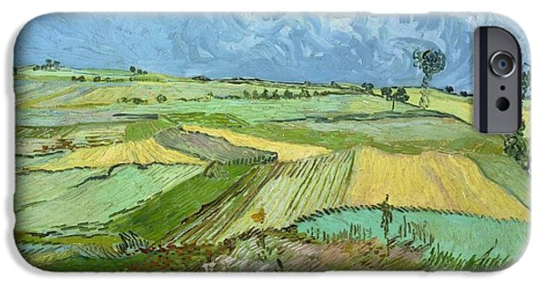 Carnegie Museum Of Art iPhone Cases - Wheat Fields after the Rain iPhone Case by Vincent van Gogh
