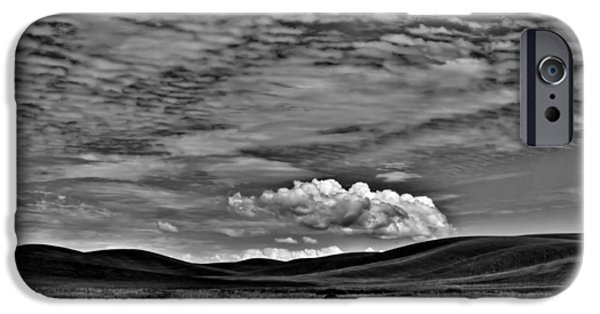 Monotone iPhone Cases - Wheat Fields in the Palouse iPhone Case by David Patterson