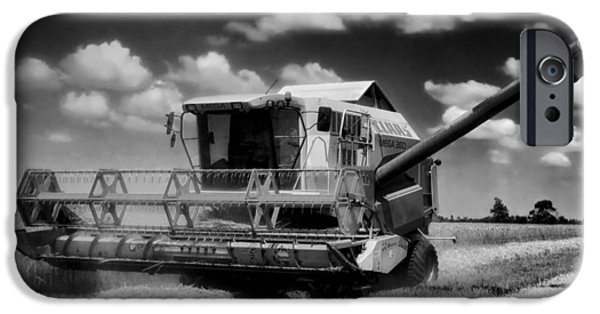 Combine Harvester iPhone Cases - Wheat Harvest  iPhone Case by Mountain Dreams