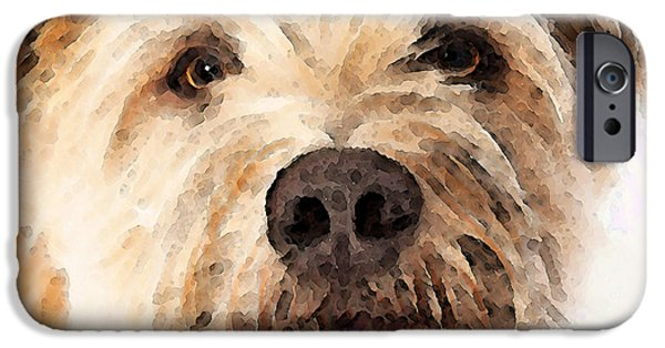 Terrier Digital iPhone Cases - Wheaten Terrier - Lets Play iPhone Case by Sharon Cummings